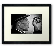 Smoking gentleman Framed Print