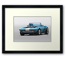 1965 Corvette 'Fuel Injected' Convertible Framed Print