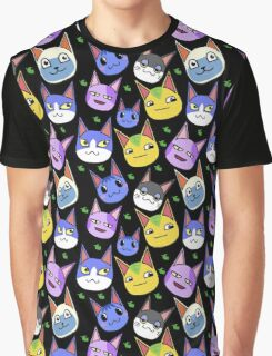 Animal Crossing Cats Graphic T-Shirt