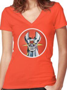 Mazinger Z Women's Fitted V-Neck T-Shirt