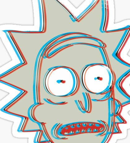Rick and Morty: 3D Rick Version 2 Sticker