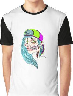Zombie Skater Girl Graphic T-Shirt