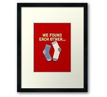 Character Building - Valentines Socks Framed Print