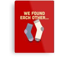 Character Building - Valentines Socks Metal Print