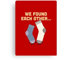 Character Building - Valentines Socks Canvas Print