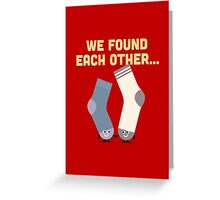Character Building - Valentines Socks Greeting Card