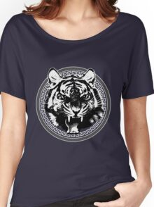 Angry Feroce Tiger Aggressive front face big cat t shirt sticker pencil hoodie Women's Relaxed Fit T-Shirt