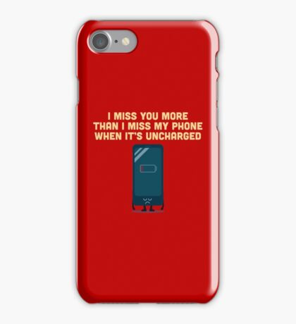 Character Building - Uncharged valentines iPhone Case/Skin