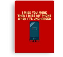 Character Building - Uncharged valentines Canvas Print