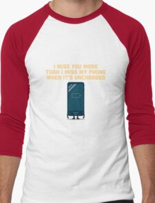 Character Building - Uncharged valentines Men's Baseball ¾ T-Shirt