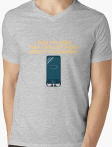Character Building - Uncharged valentines Mens V-Neck T-Shirt