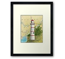 Lachine Range Lighthouse Quebec Nautical Map Cathy Peek Framed Print