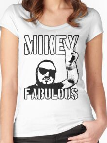 Mikey Fabulous Women's Fitted Scoop T-Shirt