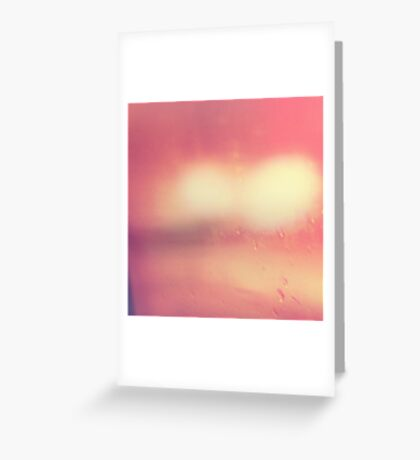 Pink Abstract Landscape, Minimalist Contemporary Photography, #redbubble Greeting Card