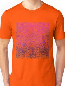 Pink and Purple Summer Forest Pattern Drawing Unisex T-Shirt