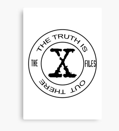X-Files The Truth Is Out There Canvas Print
