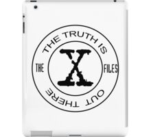X-Files The Truth Is Out There iPad Case/Skin