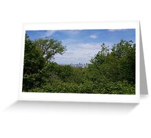 London City through the trees Greeting Card