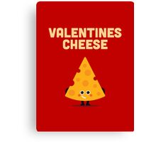 Character Building - Valentines cheese Canvas Print
