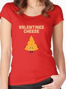 Character Building - Valentines cheese Women's Fitted Scoop T-Shirt