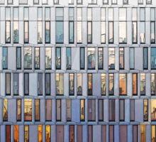 architecture illustration - graphic building facade Sticker