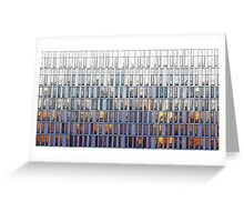 architecture illustration - graphic building facade Greeting Card