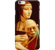 Lady with Gollum iPhone Case/Skin