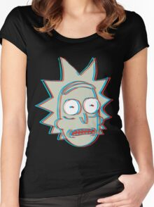 Rick and Morty: 3D Rick Version 2 Women's Fitted Scoop T-Shirt