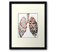 Lungs - Flowers  Framed Print