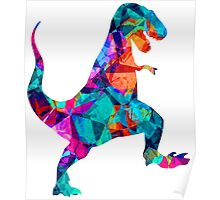 T-Rex - Colours Poster