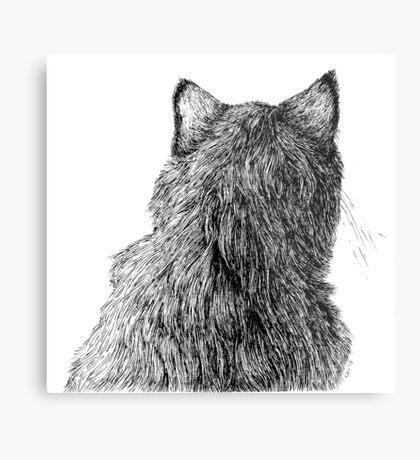 Cat Back Metal Print
