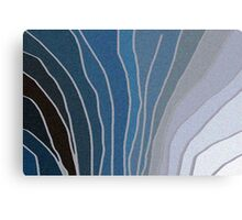 Flowing Blue Shapes Canvas Print