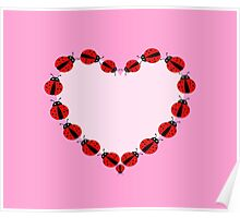 Lady Bug Heart Poster