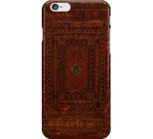 Rustic Engraved Leather Book Cover Design iPhone Case/Skin