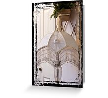 Bead Fringed Hand Stitched Lamp Shade Greeting Card