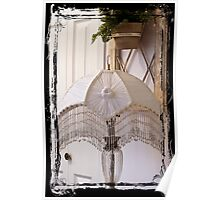 Bead Fringed Hand Stitched Lamp Shade Poster