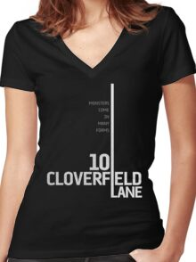 10 Cloverfield Lane Women's Fitted V-Neck T-Shirt