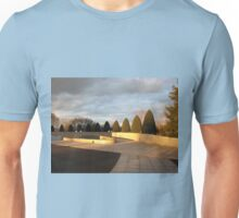 Golden Sunset - Preston Temple Forecourt Unisex T-Shirt