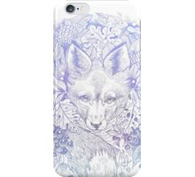 Majestic Pastel Blue Purple Hiding Fox iPhone Case/Skin