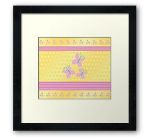My little Pony - Fluttershy Cutie Mark V4 Framed Print