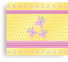 My little Pony - Fluttershy Cutie Mark V4 Canvas Print