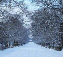 Snowy path Sticker