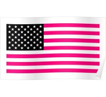 pink american flag Poster