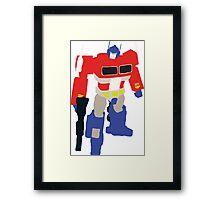 Optimus Prime Blocky Framed Print