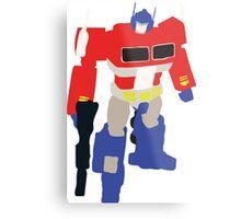 Optimus Prime Blocky Metal Print