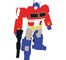 Optimus Prime Blocky Photographic Print