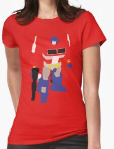 Optimus Prime Blocky Womens Fitted T-Shirt