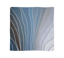 Flowing Blue Shapes Scarf