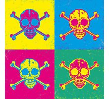 bright color skulls Photographic Print