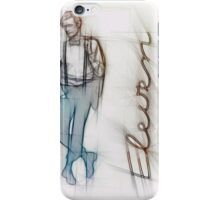 The Eleventh Doctor in Pencil Sketch iPhone Case/Skin